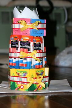 Fun beginning of the school year gift to Reed's future teachers = )