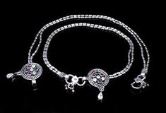 Silver Anklets, Silver Jewelry, Anklet Jewelry, Pairs, Gemstones, Jewels, Sterling Silver, Wallpaper, Detail