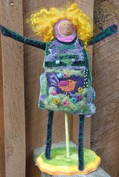 Frankie LeMonde-Meunier fabric doll.
