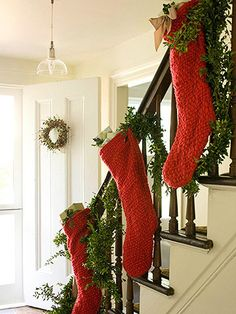 i'm doing this on my staircase this christmas