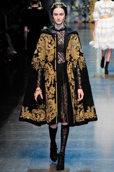 Dolce & GabbanaAn opulent procession of gold, gold and more gold - inspired by Sicilian Baroque - characterised Dolce & Gabbana autumn/winter 2012-13.