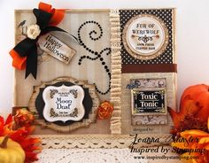 Inspired by Stamping, Joanna Munster,  Halloween Labels Stamp Set, Halloween Tags, Halloween Decorations, Halloween canvas