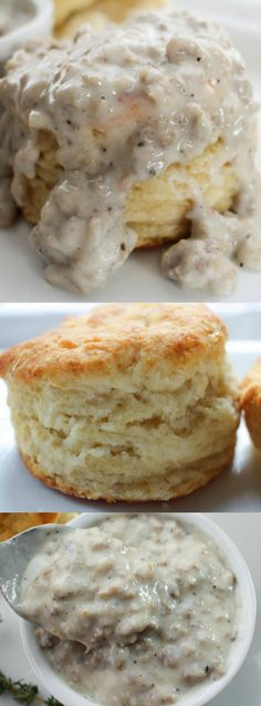 These Buttermilk Biscuits and Sausage Gravy from The Chunky Chef make the most amazing breakfast ever — or the most amazing breakfast for dinner that you will really love!
