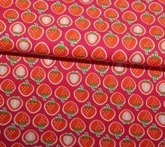 Jersey Hamburger Liebe Yummy Strawberry pink von PinkPeppa auf DaWanda.com
