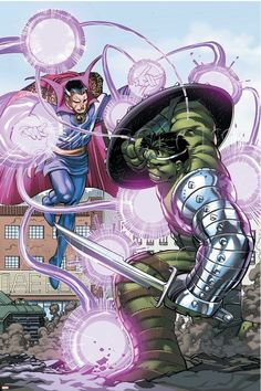 #Doctor #Strange #Fan #Art. (World War Hulk Vol.1 #4 Cover) By: David Finch. ÅWESOMENESS!!!™ ÅÅÅ+
