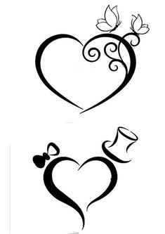Love the top pic, add our initials and that's the one. Love the top pic, add our initials and that's the one. Machine Silhouette Portrait, Stencils, Heart Tattoo Designs, Stencil Designs, Pyrography, Pencil Art, Easy Drawings, Doodle Art, Swirls