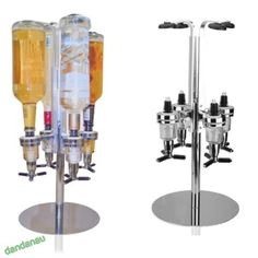 Rotary 4 bottle stand #drinks #optics dispenser in spirits wine #steel bar butler, View more on the LINK: http://www.zeppy.io/product/gb/2/301742322724/