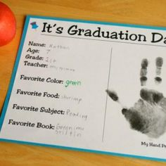 Printable Kids Graduation Certificate with Handprint