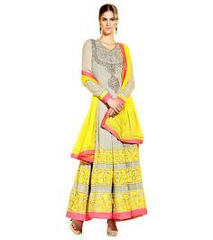 Multicoloured Anarkali Suit