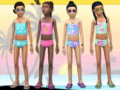 Lollaleeloo's Cute Bikinis for Sims Girls