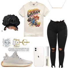 Baddie Outfits For School, Swag Outfits For Girls, Cute Swag Outfits, Teenage Girl Outfits, Cute Comfy Outfits, Teen Fashion Outfits, Dope Outfits, Girly Outfits, Retro Outfits