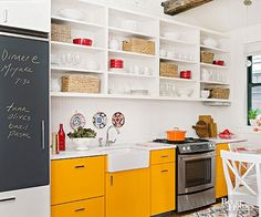 Organize your kitchen in style with these trendy kitchen cabinets. These budget-friendly kitchen storage ideas are easy and will keep your kitchen clean at all times. Know where everything is in your kitchen with these cabinet storage ideas.