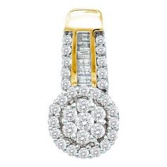 1/2CT-Diamond FLOWER PENDANT