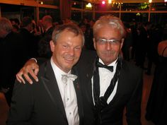 Peter Pfister (Austria) and Frank Hession (Ireland) at Intercoiffure Mondial Night of the Stars.