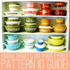 Oh So Lovely Vintage: Pyrex Pattern Identification Guide (Part 2)