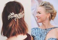 Resultado de imagem para penteados para cabelos curtos para casamentos