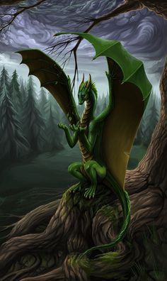 Emerald Dragons, the highest cast of green dragon, act as the stewards of the Valhencian forests. Unfortunately, the Dolrian war effort has left them hard pressed in their defense.