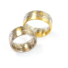 Eheringe Palladium Silber Gelbgold Mokume Gane Fairtrade (1007889) Ring Verlobung, Fair Trade, Wedding Hairstyles, Winterthur, Wedding Rings, Engagement Rings, Jewelry, Jewerly, Enagement Rings