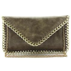 -Magnetic snap button flap closure  -Faux leather  -Inside lining with zipper pocket  -47 inch optional shoulder strap  -12 (W) x 7 (H) inches