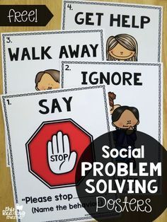 Social Problem Solving Posters {FREE}. Wow, what a great find! Grab these freebies to help your students solve problems on their own. Great visuals for any classroom, especially special ed!