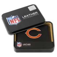 Chicago Bears Men's Black Leather Tri-fold Wallet