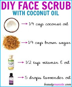 DIY Coconut Oil Face Scrub for Gentle Exfoliation & Smooth Skin – beautymunsta – free natural beauty hacks and more! DIY Coconut Oil Face Scrub for Gentle Exfoliation & Smooth Skin Coconut Oil Lotion, Coconut Oil For Acne, Benefits Of Coconut Oil, Best Coconut Oil, Diy Lip Scrub, Face Scrub Homemade, Diy Exfoliating Face Scrub, Homemade Facials, Dry Flaky Skin