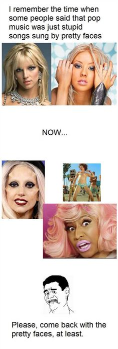 Pop music before and after…
