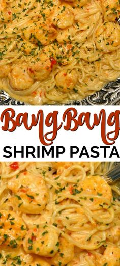 This Bang Bang Shrimp Pasta has the most scrumptious creamy sauce that is ready in about 20 minutes. This recipe is truly one of the best shrimp recipes ever! Recipes dinner Bang Bang Shrimp and Pasta Best Shrimp Recipes, Shrimp Recipes For Dinner, Seafood Pasta Recipes, Shrimp Dishes, Fish Recipes, Pasta Food, Sheimp Pasta, Recipes With Cooked Shrimp, Healthy Shrimp Pasta