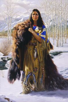 11 NATIVES AMERICAN PAINT - Early Snow.