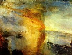 L'Incendio delle Camere dei Lord e dei Comuni-William Turner-1835-olio su tela-92,5×123 cm-al Cleveland Museum of Art, Cleveland