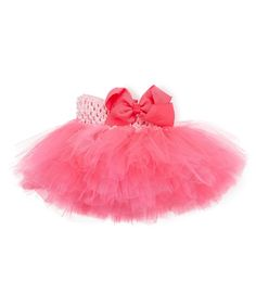 Hot Pink Tutu & Headband Set - Infant & Toddler