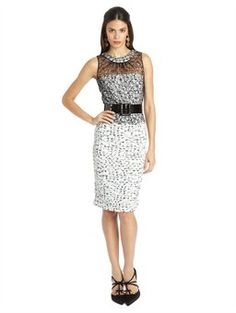 TWEED AND LACE PENCIL DRESS, $2,490.00