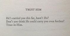 I trust You Allah, and love You immensely.