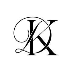 Monogram Tattoo, Monogram Logo, Monogram Letters, Monogram Wallpaper, Love Wallpaper, Wedding Logos, Monogram Wedding, Dk Logo, Lettering Design
