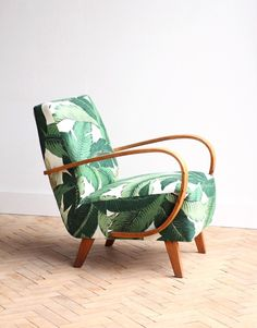 Vintage Antique Newly Upholstered Halabala Lounge Arm Chair Mid Century photo 1