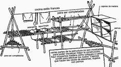 Construcciones en Campamento | Grupo Scout Nro.1 Nuestra Señora de la Salud
