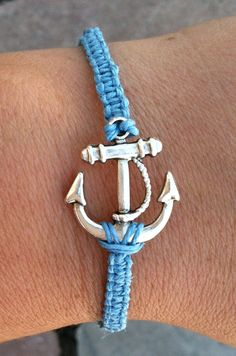 LIGHT BLUE Anchor Bracelet by krystleskrafts on Etsy, $5.00 NEW COLOR