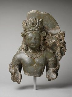 Kamadeva, the God of Love. India (Jammu and Kashmir, ancient kingdom of Kashmir). Second half of the 8th century. Though rarely represented in Kashmiri art, Kama, the god of love, is here identified by a wondrous mythical creature (makara), who spews arrows from its jaws. The bow and arrow and a pair of lovebirds are Kamadeva's principal identifiers. This subject is a rare survivor from early medieval Kashmir.