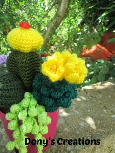 Crochet cactus _ pattern free italiano http://donyscreations.blogspot.it