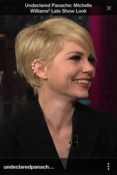 Michelle Williams, pixie style