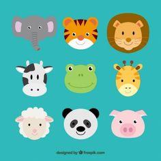 Cute animal heads