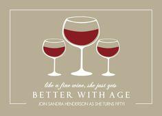 Fine Wine 50th Birthday Invitation