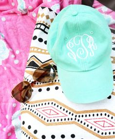 Gifts for your bridesmaids! Ladies Monogrammed Ball Cap Low riding by VolunteerMonograms, $14.50