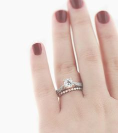 Pair your Two-Tone ring with the Willow Wedding Band!
