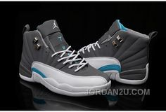 Discover the 2016 Air Jordan 12 Wolf Grey/University Blue-White Top Deals collection at Pumarihanna. Shop 2016 Air Jordan 12 Wolf Grey/University Blue-White Top Deals black, grey, blue and more. New Jordans Shoes, Nike Air Jordans, Jordans For Men, Men's Shoes, Retro Jordans, Custom Jordans, Cheap Jordans, Shoes 2017, Zapatos Nike Jordan
