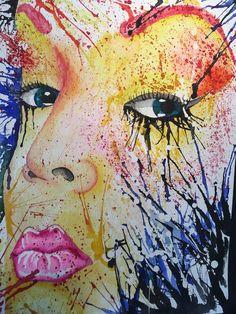 Watercolor, Swedich art, Ladies of Collor, lips💋 Collor, Watercolor Art, Lips, Painting, Watercolor Painting, Paintings, Watercolour, Draw, Drawings