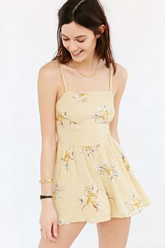 Kimchi Blue Rosey Posey Romper - Urban Outfitters