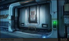 halo door concept art bunker door - Google Search