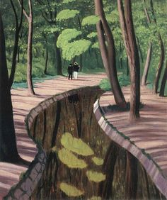 Felix Vallotton (1865-1925): Undergrowth, Bois de Boulogne.  These days, there isn't any undergrowth there too speak of