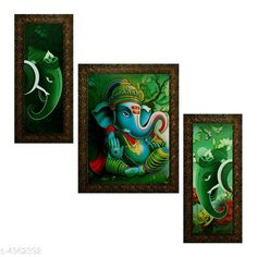 Paintings & Posters Alluring Decorative Wall Paintings Material: Synthetic Size: (L X W) Images 1 - 5.2 in X 12.5 in Image 2 - 9.5 in X 12.5 in image 3 - 5.2 in X 12.5 in Description: It Has 3 Pieces Of Wall Paintings Work: Printed Country of Origin: India Sizes Available: Free Size   Catalog Rating: ★4 (431)  Catalog Name: Alluring Decorative Wall Paintings CatalogID_727109 C127-SC1611 Code: 403-4962392-336